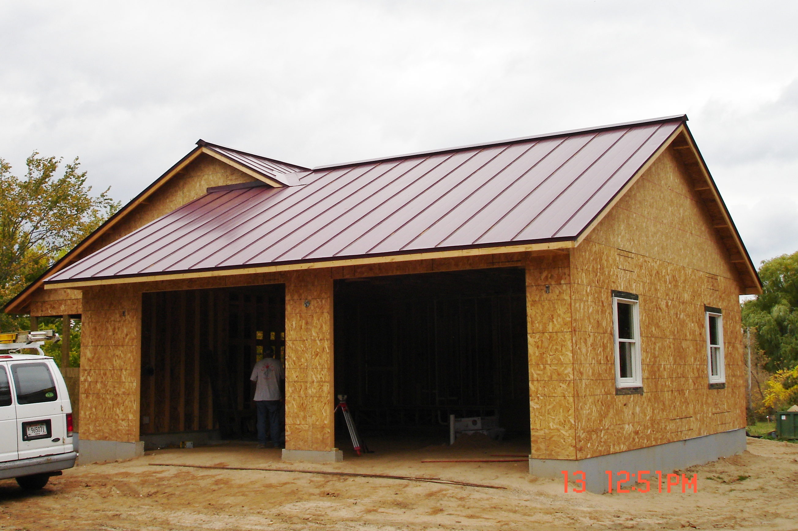 Metal Roofing red maroon