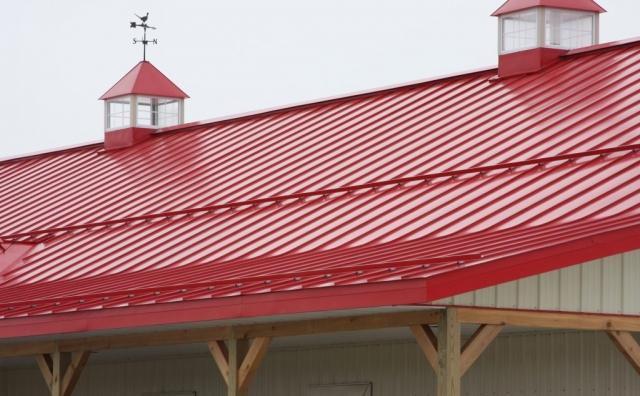 standing seam sheet metal roofing red commercial wisconsin iowa minnesota illinois north dakota