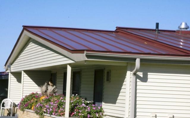 Standing seam sheet metal roofing commercial brown dark wisconsin minnesota iowa illinois north dakota
