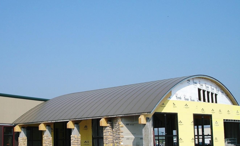 Standing seam sheet metal roofing grey commercial wisconsin minnesota illinois iowa north dakota