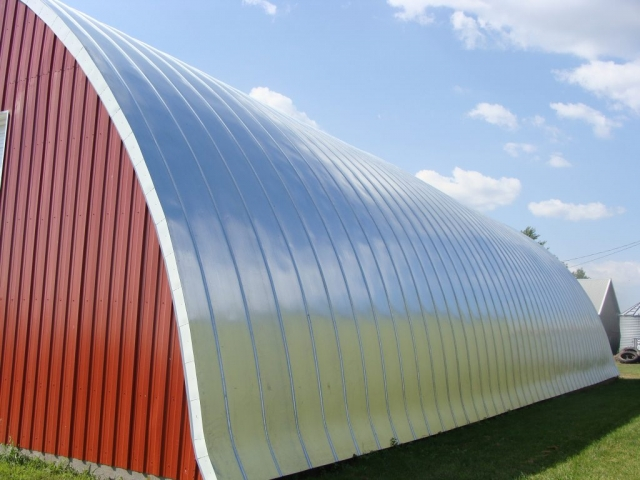 standing seam metal roofing quonset silver galvanized