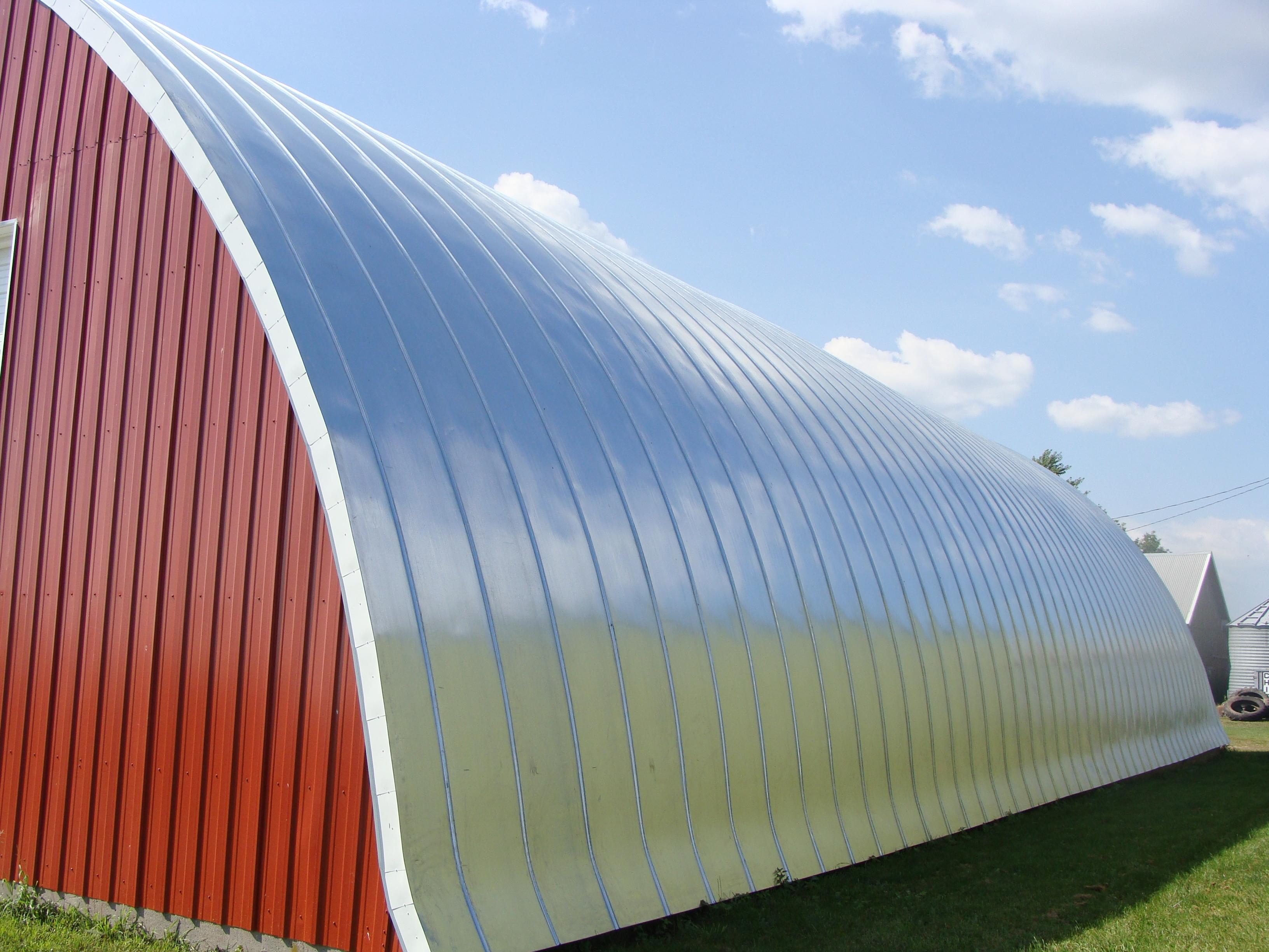 double lock standing seam sheet metal roofing quonset silver galvanized culpitt wisconsin minnesota iowa north dakota illinois