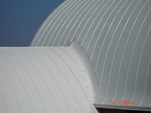 double lock Standing seam sheet metal roofing gothic barn agricultural stone white culpitt wisconsin iowa illinois minnesota north dakota