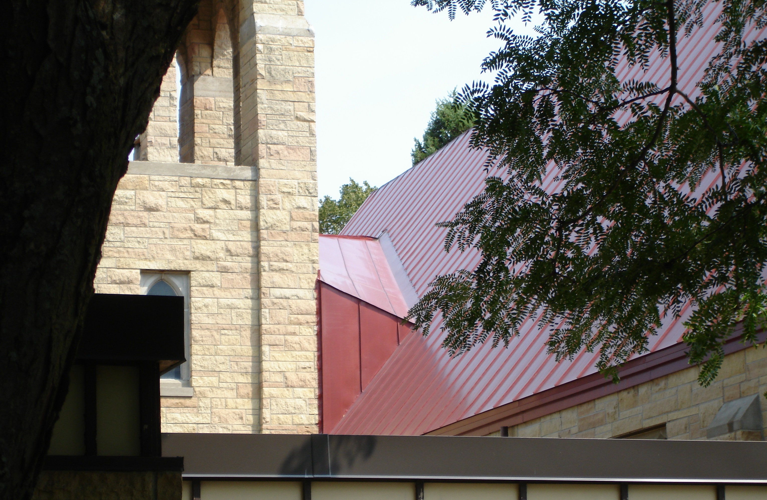 standing seam sheet Metal Roofing red colonial maroon commercial church wisconsin iowa illinois minnesota north dakota