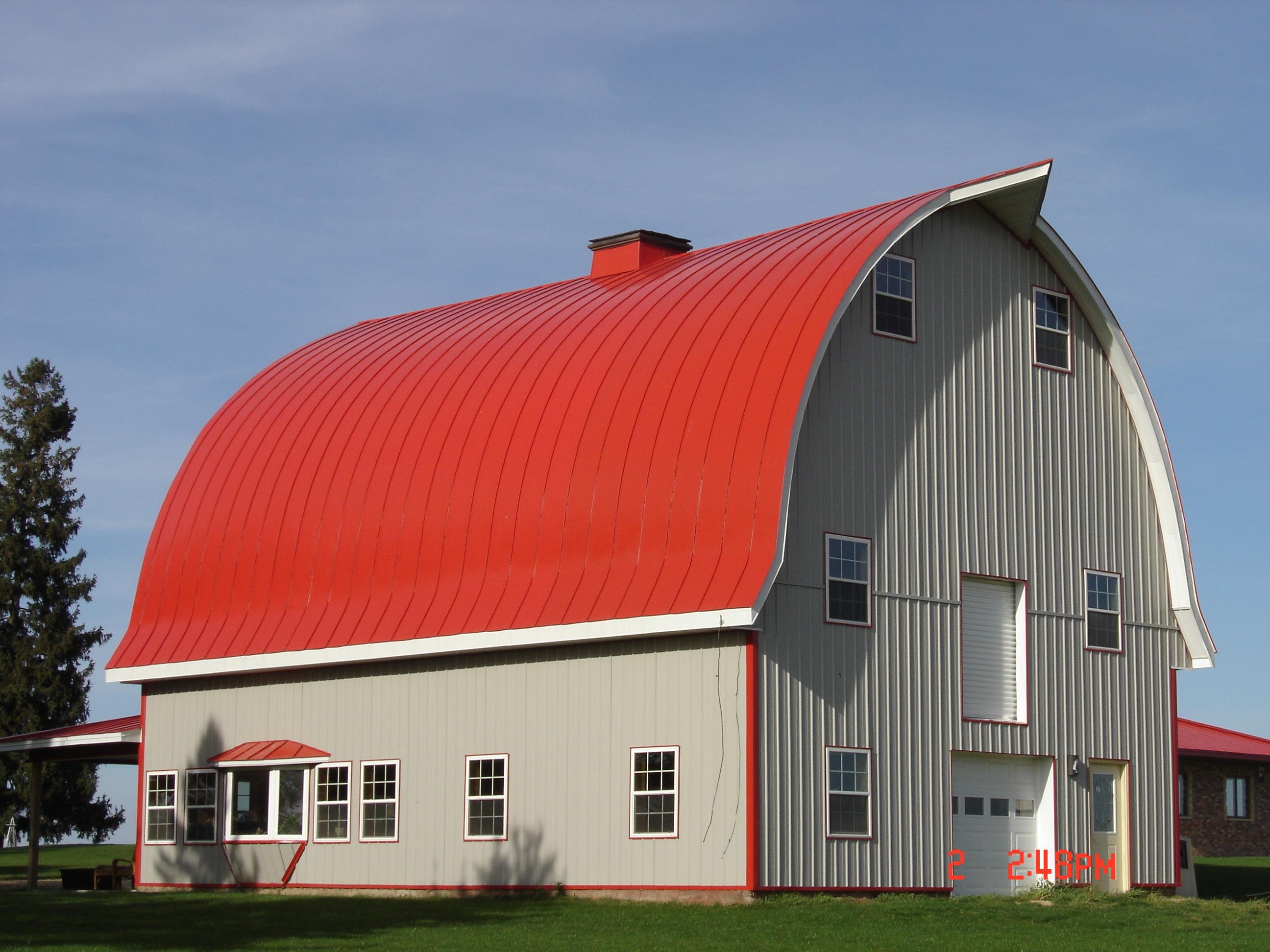 double lock Standing seam sheet metal roofing regal red gothic barn agricultural culpitt wisconsin iowa illinois minnesota north dakota