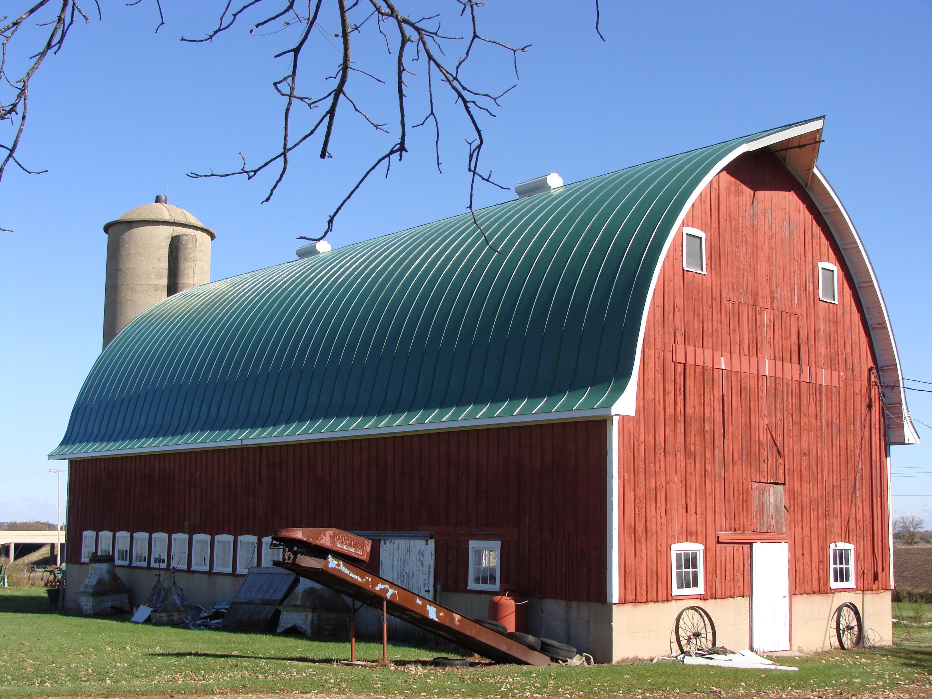 double lock standing seam sheet metal roofing gothic barn agricultural teal green blue culpitt wisconsin illinois iowa minnesota north dakota