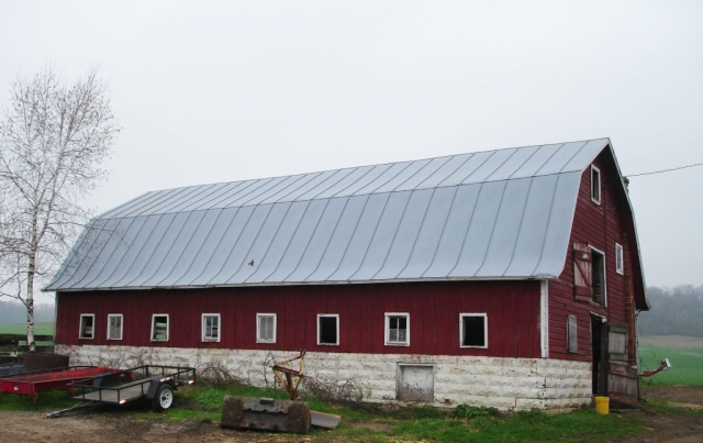 hip barn galvanized double lock agricultural standing seam sheet metal roofing silver culpitt wisconsin minnesota iowa illinois north dakota