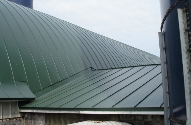 green gothic standing seam metal roof