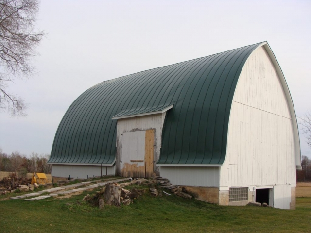 double lock sheet agricultural gothic barn standing seam metal roofing dark hartford green cupola culpitt wisconsin illinois north dakota iowa minnesota