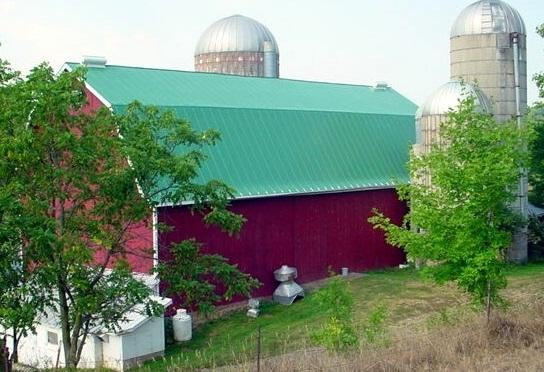 double lock sheet agricultural Hip barn standing seam metal roofing tropical patina green culpitt wisconsin illinois north dakota iowa minnesota