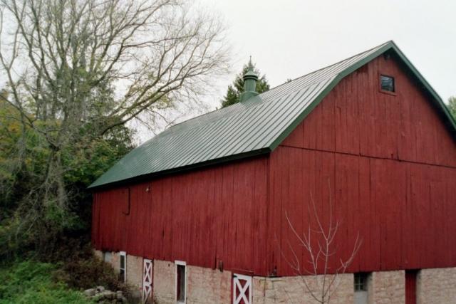 double lock sheet agricultural Hip barn standing seam metal roofing dark hartford green cupola culpitt wisconsin illinois north dakota iowa minnesota