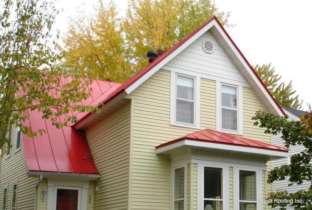 standing seam sheet metal roofing regal red house residential wisconsin minnesota iowa illinois north dakota