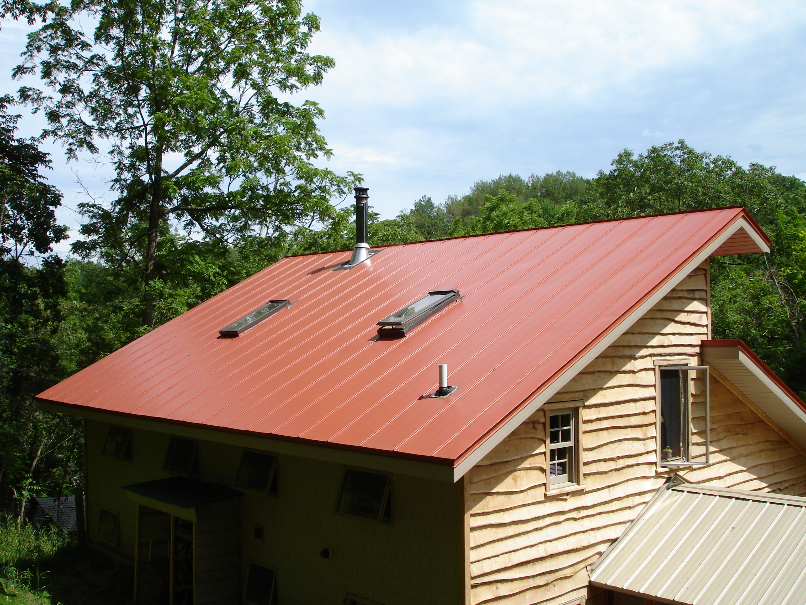 standing seam metal roofing orange