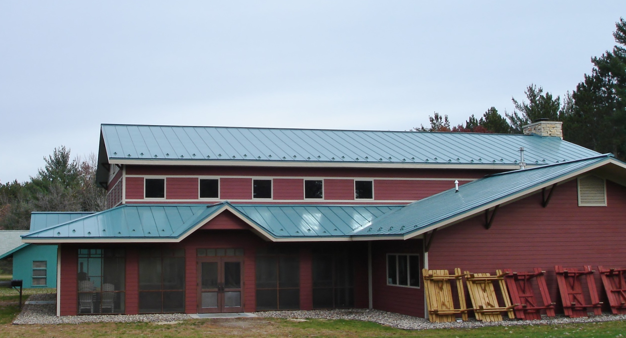 standing seam sheet metal roofing blue commercial wisconsin iowa minnesota illinois north dakota