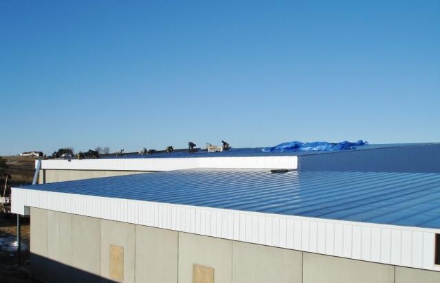 standing seam sheet metal roofing commercial blue wisconsin minnesota iowa illinois north dakota
