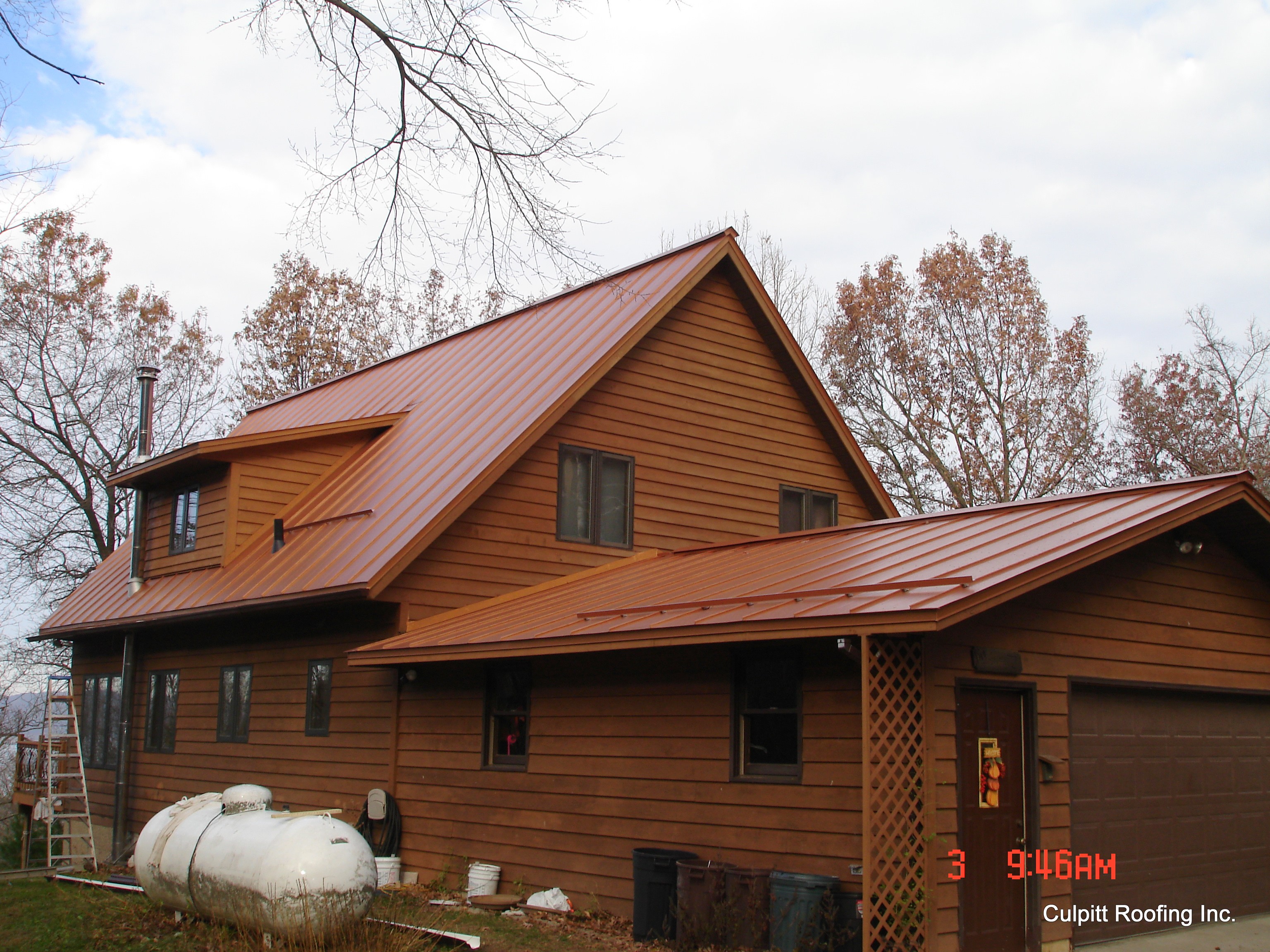 Metal roofing standing seam snow rail copper
