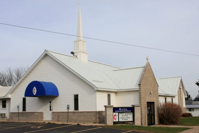 standing seam sheet metal roofing light grey silver white snow rail church commercial united methodist westby wisconsin minnesota iowa illinois north dakota